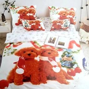 HOD Vianočné posteľné obliečky CHRISTMAS DOG 2 3 set 140x200cm
