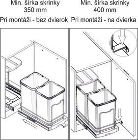 Starax Kôš na odpadky 12+12L