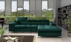 Moderná rohová sedačka Relina, zelená Monolith Roh: Orientace rohu Levý roh