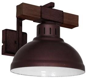 Luminex Nástenné svietidlo HAKON 1xE27/60W/230V tmavá LU9051