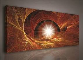 Obraz na plátne, rozmer 145 x 45 cm, hviezdne nebo, IMPOL TRADE 134O3