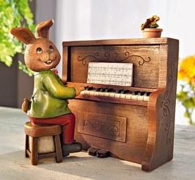 Hracia skrinka Piano a zajačik, 2 diely