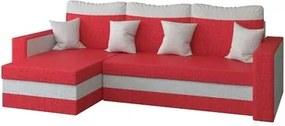 Rohová rozkladacia sedacia súprava MADO Červená/svetlo šedá