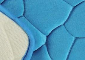 BO-MA koberce Protiskluzová koupelnová předložka 3D 0133 tyrkys - 50x80 cm
