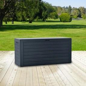 Záhradný box na podušky - sivá