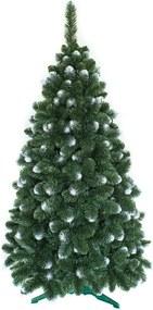 Umelý vianočný stromček Borovica Zasnežená 150cm