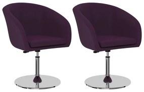 vidaXL Jedálenské stoličky 2 ks, fialové, umelá koža