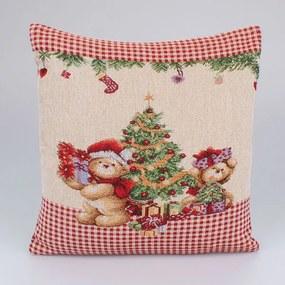 Návlečka na vankúš s vianočným vzorom