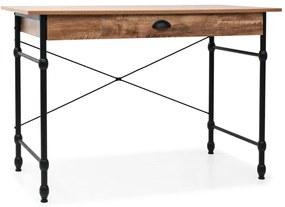 vidaXL Písací stôl so zásuvkou, 110x55x75 cm, dubová farba