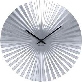 Karlsson 5657SI Designové nástenné hodiny, 40 cm