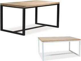 LORENZO DUB masívny stôl Čierna 120 x 80 cm