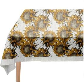 Obrus Linen Couture Sunflower, 140 x 140 cm