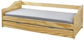 Sconto Posteľ s výsuvným lôžkom LAUNIE borovica, 90x200 cm