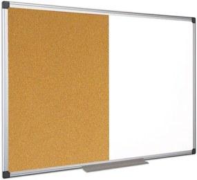 Popisovacia magnetická tabuľa a korková nástenka, 1200x900 mm