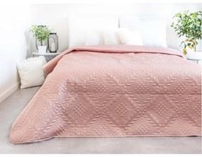 ERVI PLASLuxusný prehoz na posteľ – Pudra 220 × 240 cm