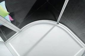 POLYSAN - ZOOM LINE štvrťkruhová sprchová zástena 1000x1000mm, číre sklo, pravá (ZL2616R)