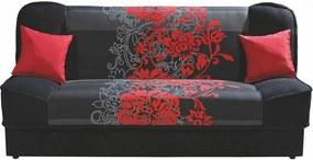 TYNA rozkladacia pohovka, červené kvety