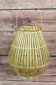 Lampáš prútený s úchytkou - natur (v. 30,5 cm) - vidiecky štýl