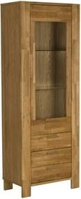 Vitrína Ciara, prosklená, dubová dýha, 191,4 cm SCHDN90917-1 SCANDI