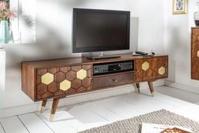 Dizajnový TV stolík Justice 140 cm akácia