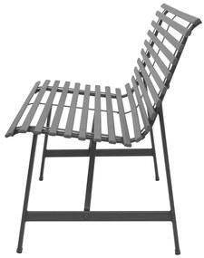 vidaXL Záhradná lavička 150 cm, oceľ, antracitová