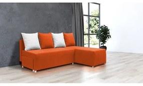 Rozkladacia rohová sedačka FILIP 1 Oranžová