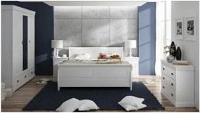 Spálňa Toskania 3D, biela, borovica, masív, TAHOMA
