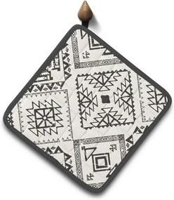Domarex Kuchynská podložka Indiana Aztec sivá, 18 x 18 cm