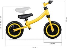EcoToys Detské odrážadlo žlté, BW-1155
