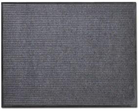 Sivá PVC rohožka, 90 x 120 cm