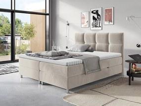 Moderná box spring posteľ Angela 180x200, béžová