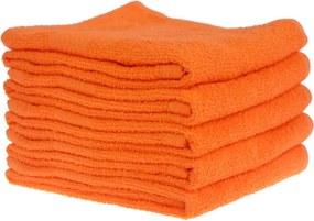 Detský uterák bavlnený 30x50cm oranžový EMI