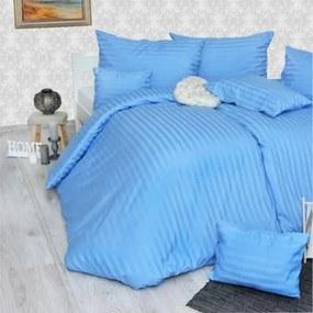 Obliečky damaškové modré Emi 1x Vankúš 90x70cm, 1x Paplón 140x220cm