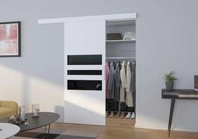Posuvné dvere na stenu biele Clin - S dojezdem