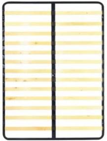 TEMPO KONDELA Kovový rošt 7866 lamelový rošt 160x200 cm drevo / kov