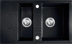 Novaservis Drezy - Granitový dvojdrez 790x480 mm, grafit, DRGM3/48/79HA