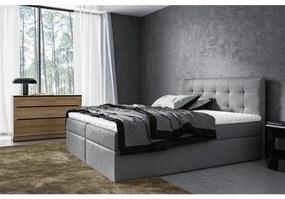 Moderné čalúnené jednolôžko Riki s úložným priestorom tmavo šedá 120 x 200 + topper zdarma