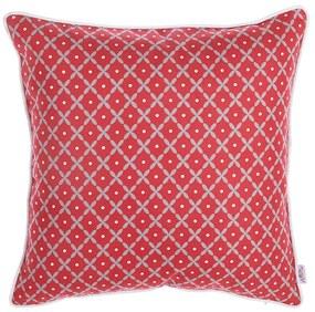 Červená obliečka na vankúš Apolena Rustic Pattern, 43 × 43 cm