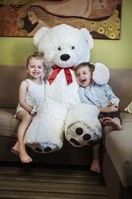 Jurhan & Co.KG Germany Veľký biely plyšový medveď 140 cm - XXL