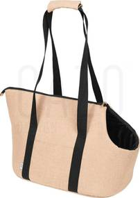 Beige prepravná kabelka pre psa 30×40×24 cm