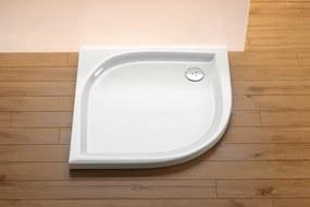 Sprchová vanička štvrťkruhová Ravak Elipso 100x100 cm, R 500, akrylát A22AA01310