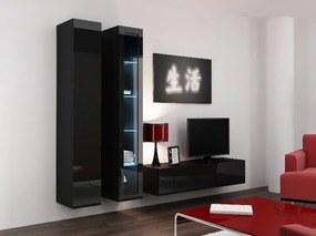 CAMA MEBLE Obývacia stena VIGO 10 Farba: čierna