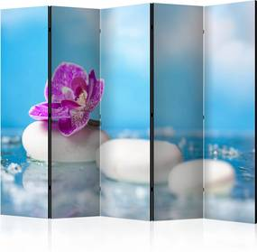 Paraván - Pink Orchid and white Zen Stones II [Room Dividers] 225x172 7-10 dní