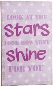 lovel.sk Obrázok na stenu s hviezdným motívom ružový