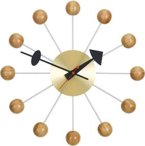 Vitra Hodiny Ball Clock, cherry