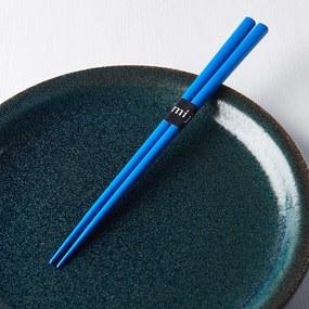MIJ Lakované jedálne paličky CHOPSTICKS modré