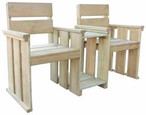 Záhradné kreslá pre dve osoby, 150x55x89 cm, impregnované borovicové drevo