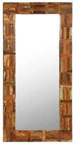 vidaXL Nástenné zrkadlo z masívneho recyklovaného dreva 60x120 cm