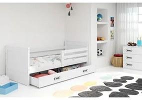 Detská posteľ RICO 190x80 cm Bílá Bílá