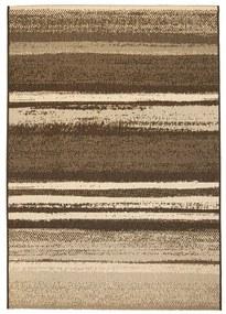 vidaXL Koberec, sisalový vzhľad, vnútorný/vonkajší, 140x200 cm, pruhy